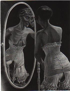 Otto dix au salon jeune fille devant le miroir for Fille au miroir